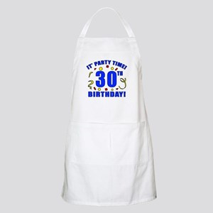 30th Birthday Party Time Apron