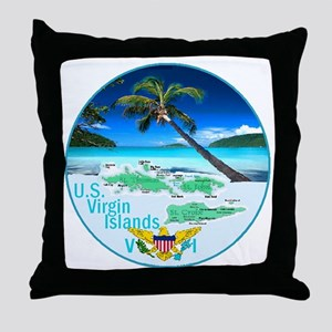 VIRGIN ISLANDS Throw Pillow