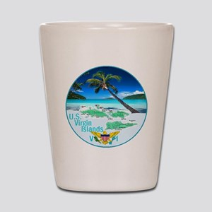VIRGIN ISLANDS Shot Glass