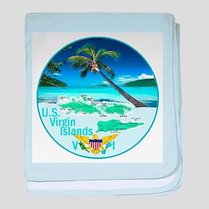 VIRGIN ISLANDS baby blanket