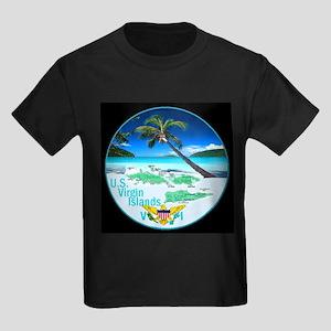 VIRGIN ISLANDS Kids Dark T-Shirt