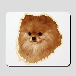 Pomeranian head dog art Mousepad