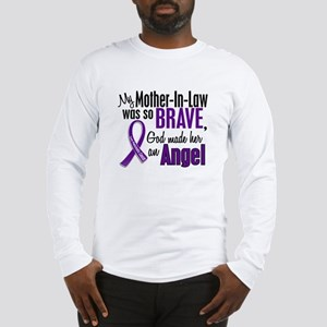Angel 1 Pancreatic Cancer Long Sleeve T-Shirt