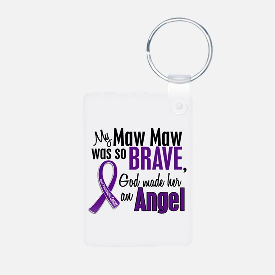 Angel 1 Pancreatic Cancer Keychains