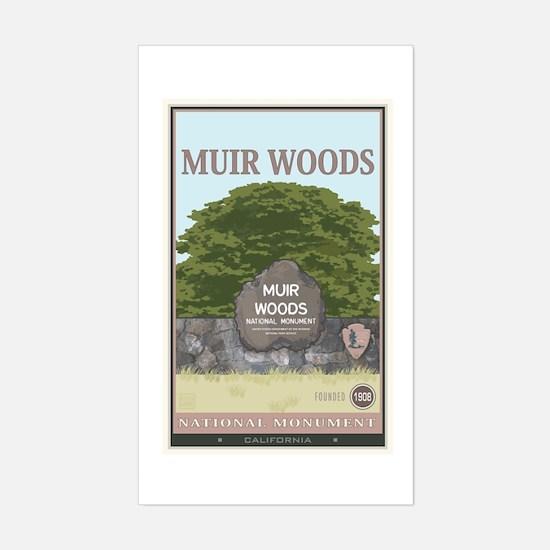 Muir Woods 2 Sticker (Rectangle)