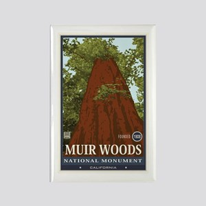 Muir Woods 3 Rectangle Magnet