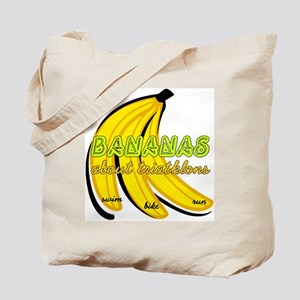 Bananas about Triathlons Tote Bag