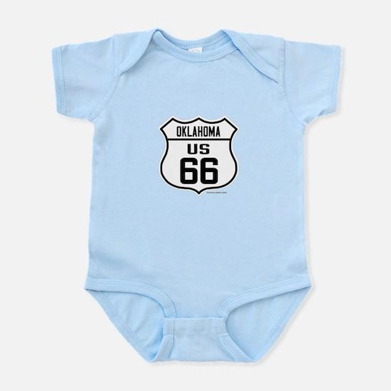 US Route 66 Oklahoma Infant Bodysuit