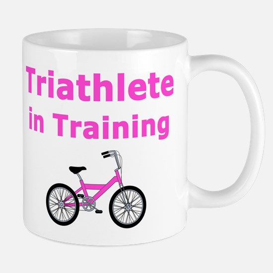 Triathlete in Training - Pink Bike Mug