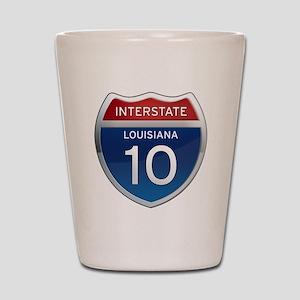 Interstate 10 Shot Glass