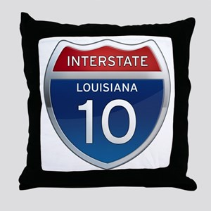 Interstate 10 Throw Pillow