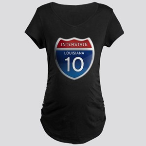 Interstate 10 Maternity Dark T-Shirt