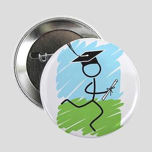 """Graduate Runner Grass 2.25"""" Button"""