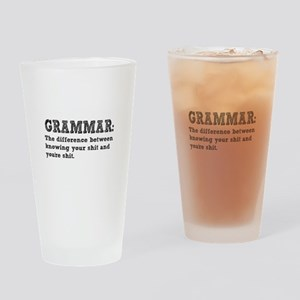 Know Your Grammar Drinking Glass