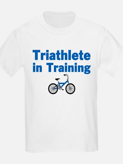 Triathlete in Training - Blue Bike T-Shirt