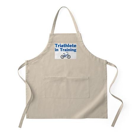 Triathlete in Training - Blue Bike Apron