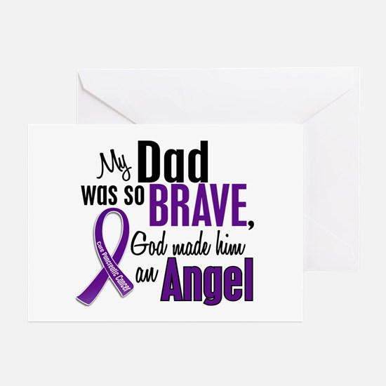 Angel 1 Pancreatic Cancer Greeting Cards (Pk of 20