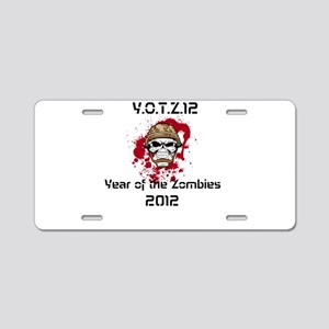 Y.O.T.Z.12 Aluminum License Plate