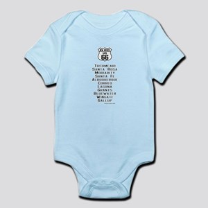 US Route 66 New Mexico Cities Infant Bodysuit