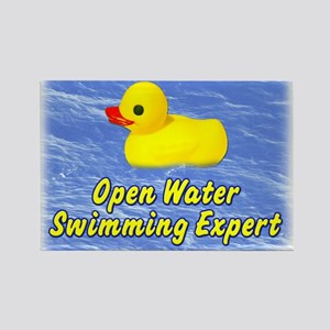 Open Water Swimming Expert Duck Rectangle Magnet