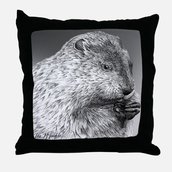 Punxutawney Phil Throw Pillow