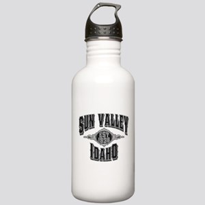 Sun Valley Black & Silver Stainless Water Bottle 1