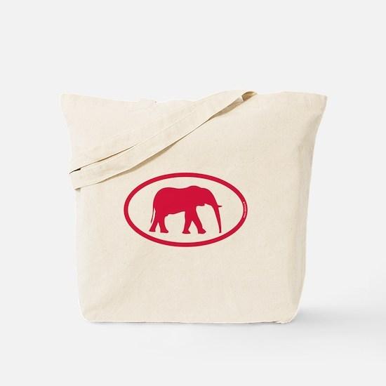 Alabama Red Elephant II Tote Bag