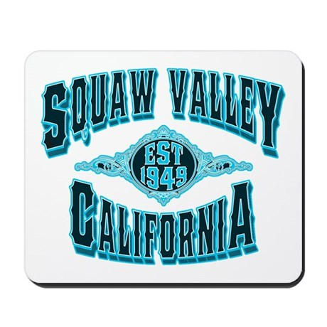 Squaw Valley Black Ice Mousepad