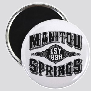 Manitou Springs Black & Silver Magnet
