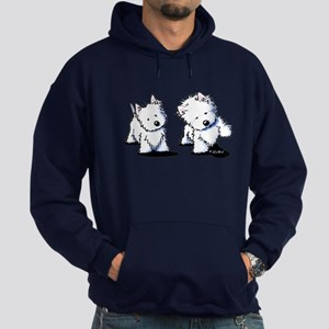 Shadowboxing Westies Hoodie (dark)
