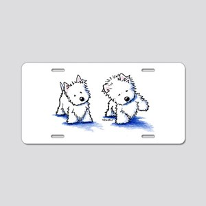 Shadowboxing Westies Aluminum License Plate