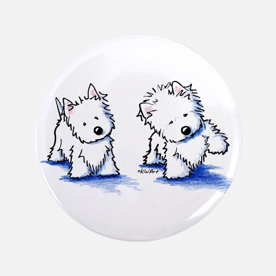 "Shadowboxing Westies 3.5"" Button"