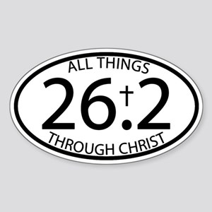 26.2 Through Christ Sticker (Oval)