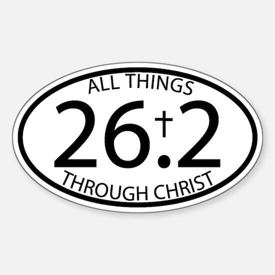 26.2 Through Christ Sticker (Oval)