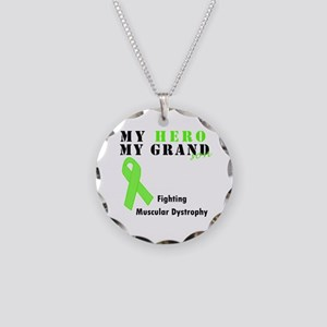 My Hero My Grandson Necklace Circle Charm