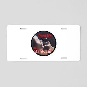 Santorum ProLife Aluminum License Plate