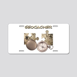 Geocacher Aluminum License Plate
