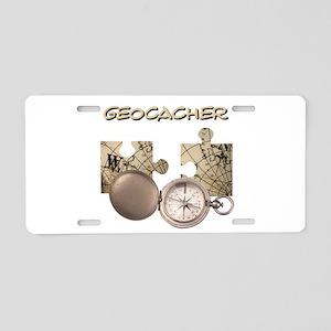 Geocacher Aluminum License Plate