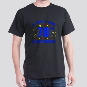 70th Birthday Party Time Dark T-Shirt
