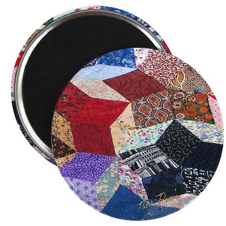 Tumbling Block Patchwork Quilt Magnet