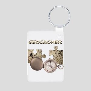 Geocacher Aluminum Photo Keychain