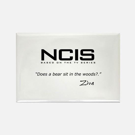 NCIS Ziva David Bear Quote Rectangle Magnet (10 pa