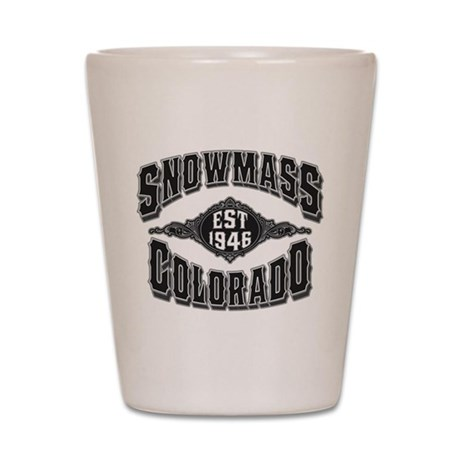 Snowmass Black & Silver Shot Glass