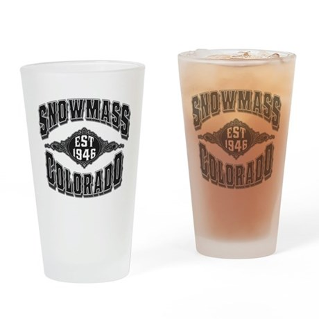 Snowmass Black & Silver Drinking Glass