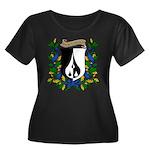 Dairine's Women's Plus Size Scoop Neck Dark T-Shir