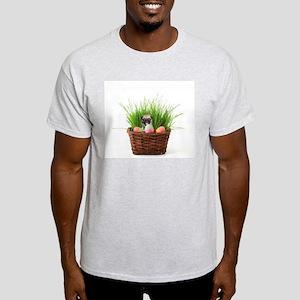 Easter Pug puppy Light T-Shirt