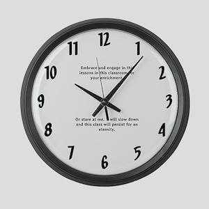 schoolroom clock Large Wall Clock