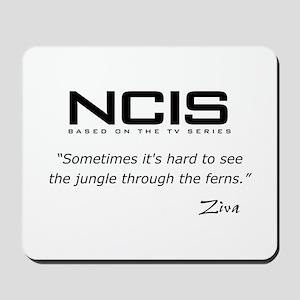 NCIS Ziva David Jungle Quote Mousepad