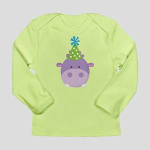 Birthday Hippo Long Sleeve Infant T-Shirt