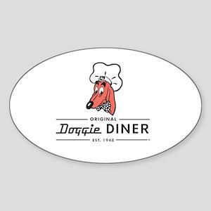 Doggie Diner restaurant logo Sticker